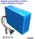 Paquete solar de la batería de ion de litio de la iluminación 12V 30ah del LED
