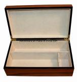 호화스러운 광택 있는 나무로 되는 포도주 저장 또는 프리젠테이션 선물 상자
