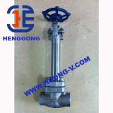API/ANSI ha forgiato la valvola a saracinesca ad alta pressione saldata A105 dell'acciaio