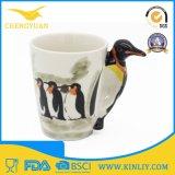 caneca de café engraçada cerâmica animal do copo de chá 3D para o presente