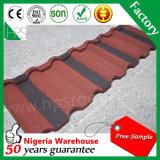 Tuile de toit enduite en pierre glacée chinoise colorée en métal de matériaux de toiture de la Chine