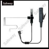Auricular de dos hilos Mic de la vigilancia para Kenwood Tk3200
