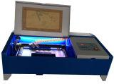 Gravador do laser do cortador do laser do passatempo mini para o serviço acrílico de borracha da gravura
