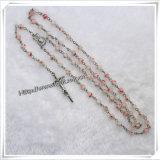 Rosario religioso dei branelli della glassa colorato 6mm di colori differenti (IO-cr154)