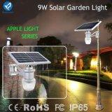 hoher preiswerter Solarstraßen-Garten-warmes Licht der Konfigurations-9W