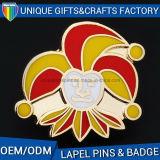 Значок Pin эмали изготовленный на заказ значка Pin отворотом металла логоса мягкий