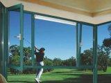 De aluminio cubierta polvo estándar australiano del color verde Inclinar-Dan vuelta a la ventana