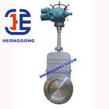 Valvola a saracinesca elettrica della lama della cialda della flangia dell'acciaio inossidabile dell'azionatore di API/DIN