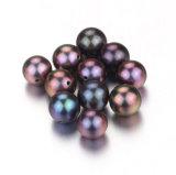 Snh del pavo real del color de los granos flojos 7,5-8mm perla redonda de moda