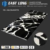 黒い壁パネル/Homedecoration (SGS/CE)のためのカラーによって設計される水晶石のカウンタートップの固体表面