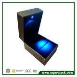 Neuer lederner Schmucksache-acrylsauerkasten des Entwurfs-LED