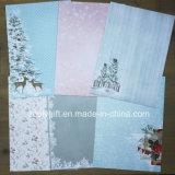 El papel de la colección de la tarjeta de Navidad fija el papel de papel del libro de recuerdos de la pista A5 DIY de A4 Scrapbooking