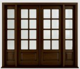 Glass를 가진 전통적인 Stained Front Solid Mahogany Wooden Doors Design