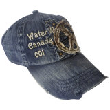Gorra de béisbol lavada pesada del dril de algodón con Niza la insignia Gjwd1759