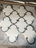 Thassos White Mix Shell en gros Waterjet Marble Tile