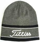 Chapeaux de tricotage barrés de laines brodés par mode (S-1065)