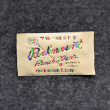 Het Kledingstuk van de Fabriek van Fuhan van Hangzhou paste de Geweven Etiketten van de Polyester van 100% Kleding aan
