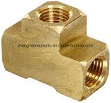 """金属の真鍮の管付属品、Barstockのティー、1/4の"""" X 1/4 """" X 1/4 """" NPTの女性管"""