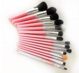 cepillos rosados del maquillaje de la sombra 15PCS