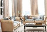 新古典主義様式の居間のソファーの家具