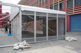 Large Exhibition Tent with Glass Wall and Sandwich Steel Wall