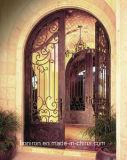 従来の眉毛の家のための上の錬鉄の前ドア