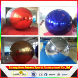 عملاقة قابل للنفخ ديسكو مرآة كرة تضخّم فضة مرآة منطاد