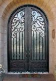 Traditionelle volle runde Oberseite-Sicherheits-Tür-bearbeitetes Eisen-Haustüren für Haus