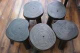 Tamborete redondo de madeira contínuo (M-X2111)