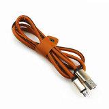 Cavo di cuoio autentico del USB del micro dell'unità di elaborazione per il iPhone