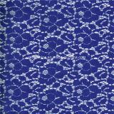 Het blauwe Katoen Afrikaan haakt de Stof van het Kant (NF1002)