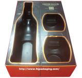 Caixa feita sob encomenda de empacotamento da bebida da caixa de papel do vinho luxuoso