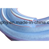 Boyau clair en plastique de l'eau de jardin de PVC
