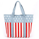 Sacchetto di acquisto non tessuto di carta della maniglia della tela di canapa del cotone del sacchetto di acquisto del regalo (X022)