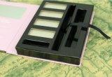 Tipo rectángulo portable con el espejo, rectángulo de empaquetado cosmético al por mayor del tirón de la cubierta del papel de imprenta de la fuente del fabricante del sombreador de ojos
