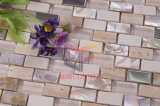 Mother naturale di Peral con Crystal e Stainless Steel Mosaic Tiles (CFP071)