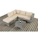 新しい! 藤のソファーはアルミニウムフレーム/SGS (401)が付いている屋外/居間のためにセットした