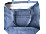 Sacchetto di acquisto lavato molle su ordinazione del Tote del Jean del denim