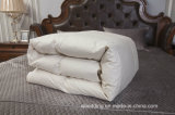 Do ganso Comforter de linho branco para baixo com escudo do Percale do algodão