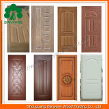 MDF HDF Mould Door Skin de 3.0mm Natural Veneer