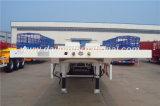Ctsm 3-Axle gerader Behälter Tansport des Träger-40FT Flachbettsattelschlepper/halb Schlussteil