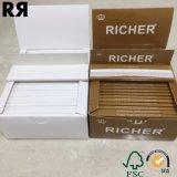 Papel de balanceo sin refinar del cigarrillo de un cáñamo puro más rico (Brown) con extremidades de filtro