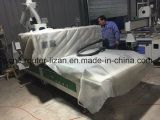 Descarregando o router da madeira do sistema CNC