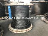 Corda de fio compata do aço inoxidável da costa - 6xk36ws