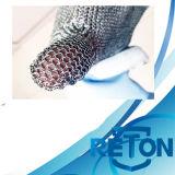 Guanto della maglia dell'acciaio inossidabile del Lungo-Manicotto/guanto d'acciaio resistente del macellaio Glove/Cut