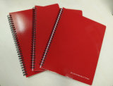 Cuaderno doble del diario del Hardcover del cuaderno espiral para el regalo promocional