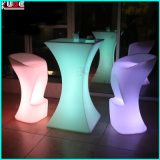Multicolor LED Mesa de cóctel Taburetes de bar Iluminado Tablas de barra alta