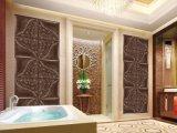 el panel de pared de cuero de la PU 3D 1007-5 para la decoración casera
