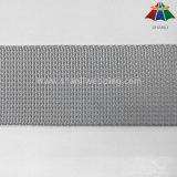 onda do cinza de prata de 32mm e de 38mm e Webbing pequenos do nylon do Weave de Microgroove