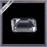 Karaat 7.5X5.5mm van de Prijs van het onderzoek de Duidelijke Witte Smaragdgroene Diamant van Moissanite van de Besnoeiing